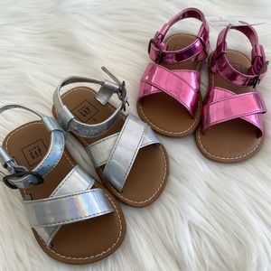 Metallic sandals from Baby Gap for toddler…